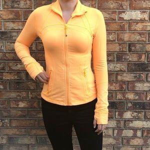 Lululemon Bright Orange Zip Up Jacket